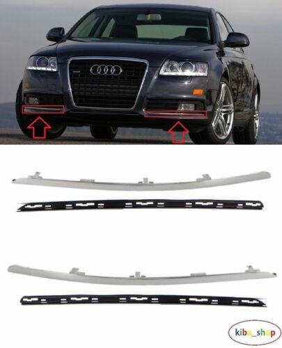 AUDI A6 C6 2008-2011 NEW FRONT BUMPER CHROMED MOULDING WITH FRAME LEFT RIGHT