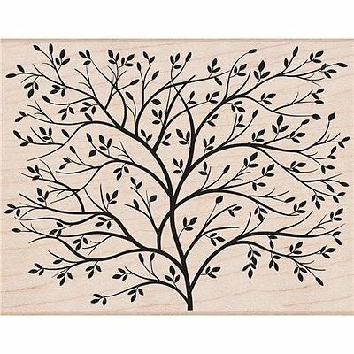 DESIGNBLOCK TREE Rubber Stamp S5037 Hero Arts Brand NEW! leaves simple nature