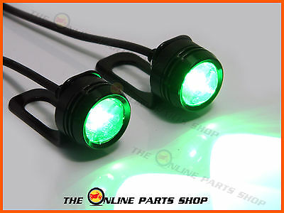 Green DRL Daytime Running CREE LED Fog Lights Fits Honda CBR125R CBR250R CL 400