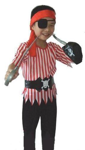 7 9 YRS 6 5 8 Pirate Boy Fancy Dress Costume AGE 4