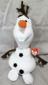 OLAF-TY-Beanie-Disney-Plush-Frozen-Sparkle-Snowman-10-034-BUDDY-SIZE