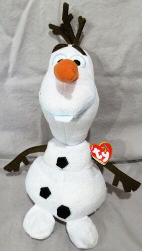 OLAF - TY Beanie - Disney Plush Frozen Sparkle Snowman - 10 BUDDY SIZE