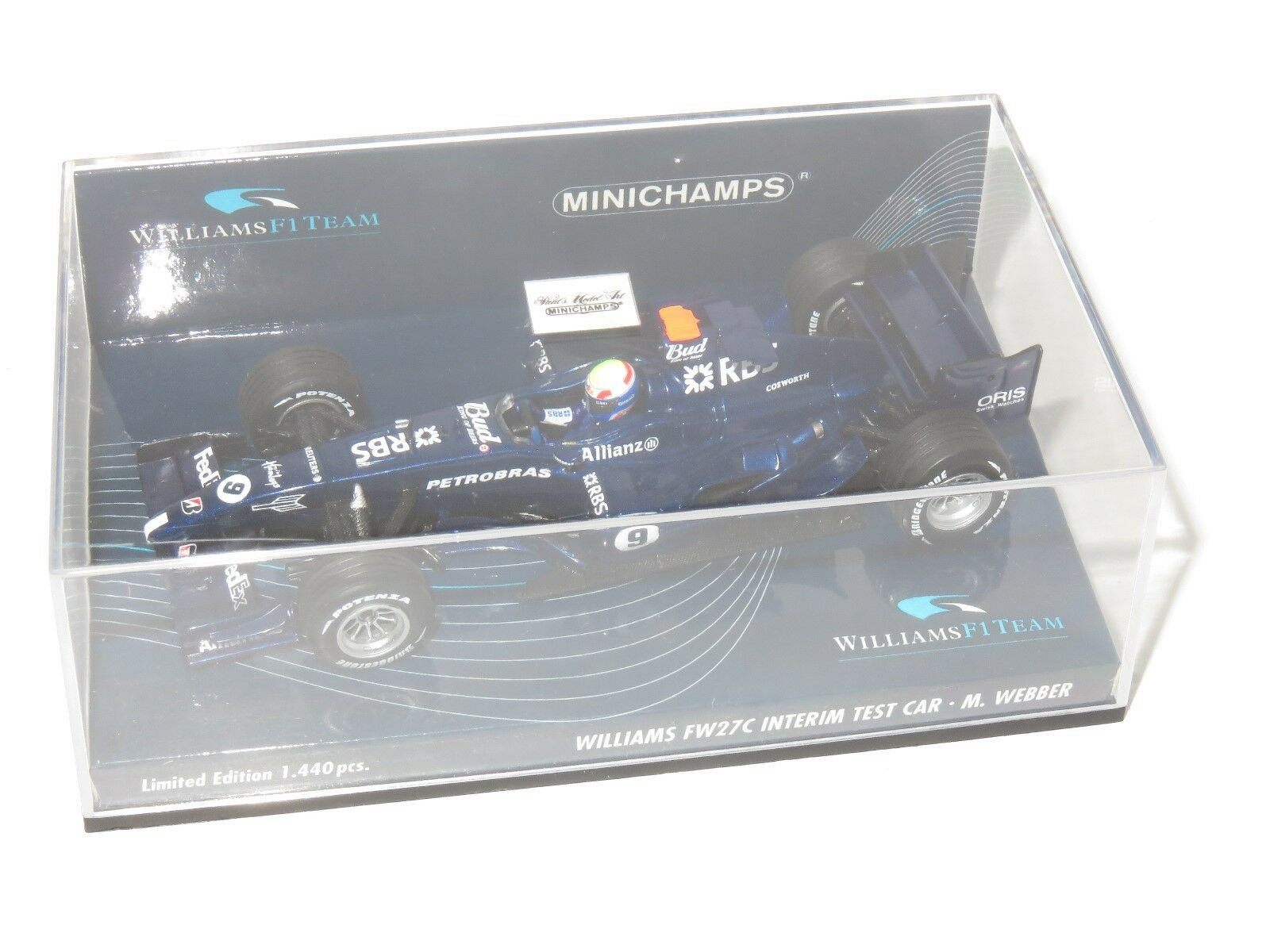 1/43 Williams Cosworth FW27C intermedio Test Car 2005 Mark Webber