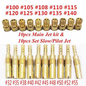 Details about 20pcs Slow/Pilot Jet Carburetor Main Jet kit for PWK Keihin  OKO CVK 32 35 38 40