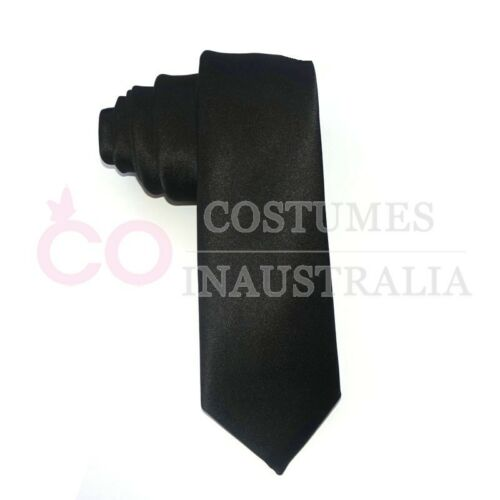 1920s Mens Gangster Black White Tie 20s Gatsby Fancy Dress Costume Accessory