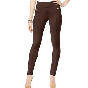 INC NEW Women/'s Zippered Curvy High Rise Pull On Skinny Pants TEDO