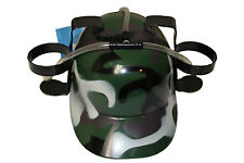 CAMOUFLAGE DRINKING HAT ,  FOR ADULTS & KIDS .. NEW