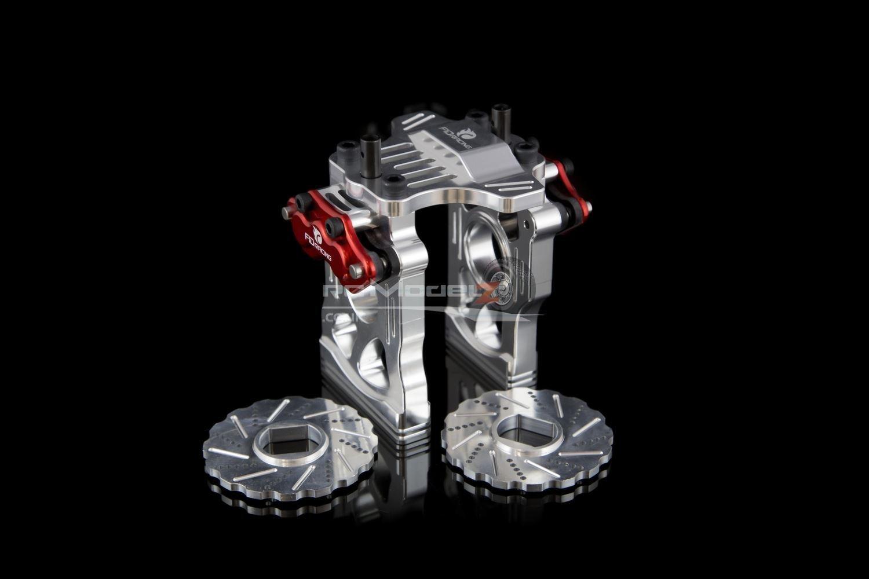 Centro FID Racing COMPLETO DIFF &  Freno impostazione V3 Aggiornamento in argentoo 30 ° N Losi 5ive KM X2  risparmiare fino all'80%