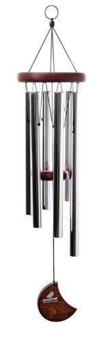 Wind Chime, Euforyjam 28 Inch Tuned Moon Wind Chime, Silver $29.90 AMZ