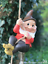 Grand-Gnome-amant-cadeau-arbre-escalade-pendaison-Corde-Ornement-Decoration-Sculpture miniature 6