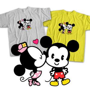 Disney-Mickey-Minnie-Mouse-Cuties-Kiss-Love-Mens-Womens-Kids-Unisex-Tee-T-Shirt