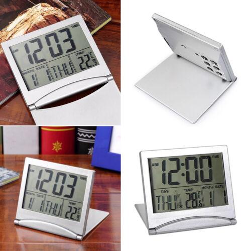 "Home Digital LCD Screen Travel Alarm Clocks Desk Thermometer Timer Calenda Deko/"""