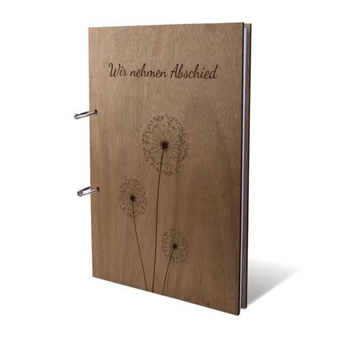 Kondolenzbuch Trauerbuch Abschied Buch A4 215x302mm 144 Seiten Pusteblume