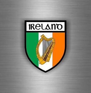 IRELAND HARP IRISH SOUVENIR CAR WINDOW STICKER