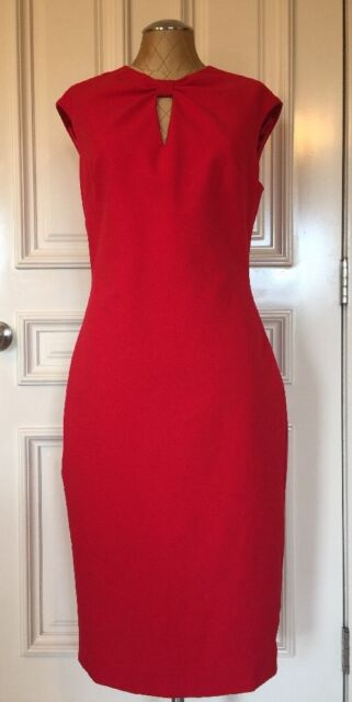 a25123695c3102 1912c Ted Baker London Kezzia Bright Red Bow Neck Body-con Dress ...