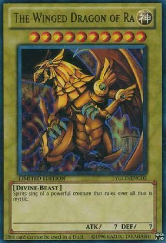 The Winged Dragon of Ra Yugioh YGLD-ENG03 Ultra Rare Limited Edition