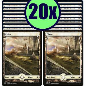 20x PLAINS 253 Full Art Basic Land NM/LP MTG Magic Battle for Zendikar