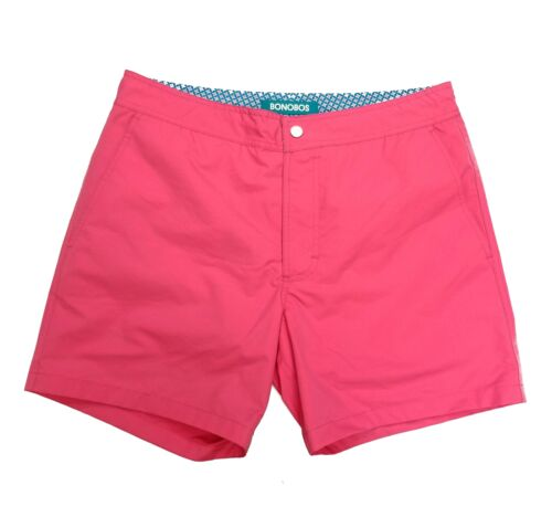 Mens Bonobos Swim Trunks Swimsuit size 31 5-in inseam pink solid blue