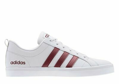 Dettagli su Adidas Neo VS Pace Scarpe Uomo Bianche Sneakers Estiva Bassa Strisce Rosse