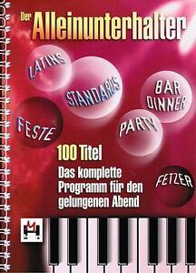 Keyboard-Noten-Der-Alleinunterhalter-100-HITS-leichte-Mittelstufe-mittel