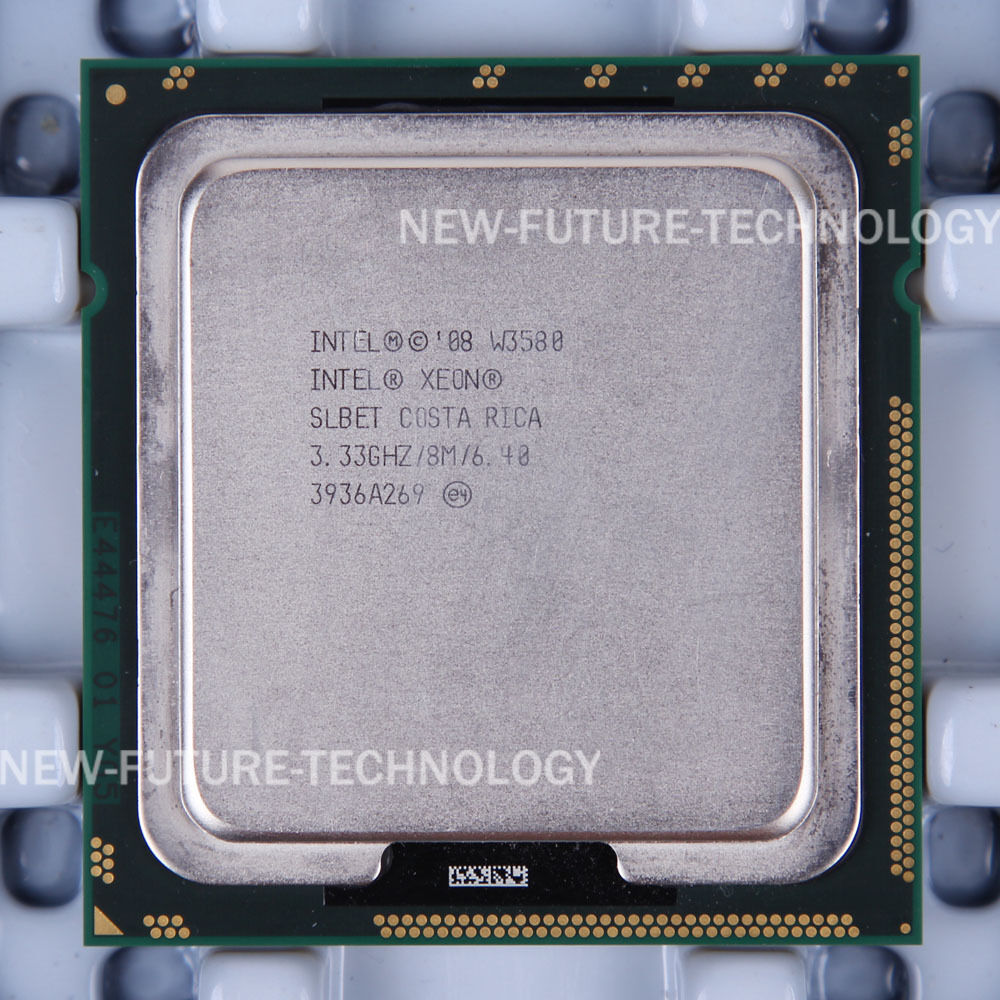 Intel Xeon W3580 3.3 GHz Quad-Core Eight-Thread CPU Processor 8M 130W LGA 1366