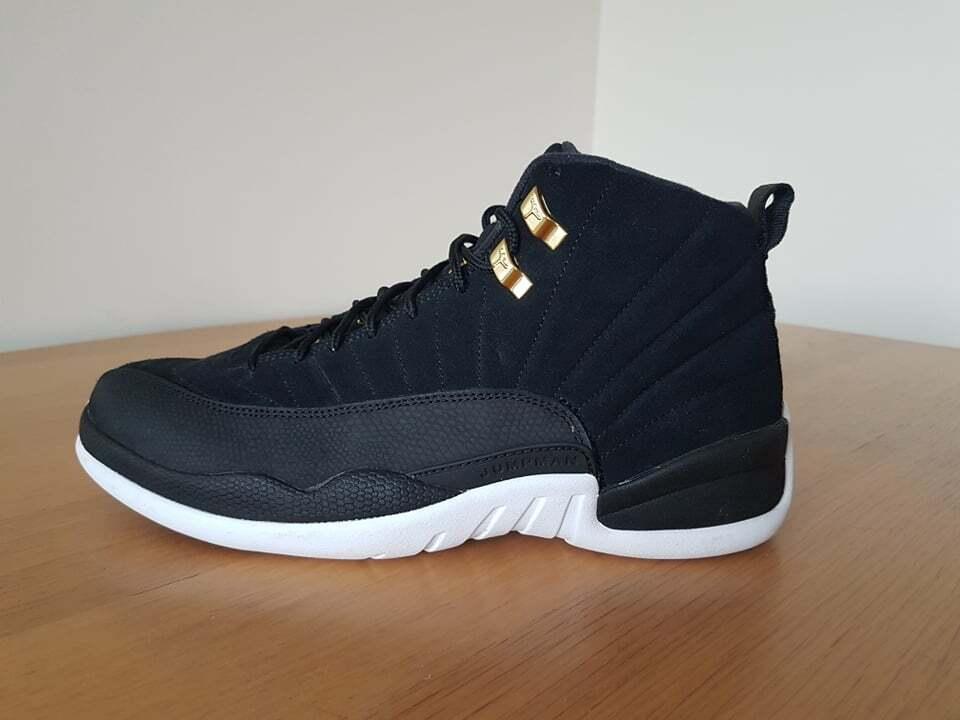 Nike Air Jordan 12 Retro REVERSE TAXI Mens Basketball Shoes Trainers UK 9