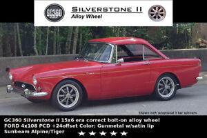Sunbeam-Alpine-Tiger-15x6-4x108PCD-Era-Correct-Alloy-wheel-GC360-Silverstone-II
