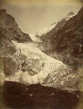 Photo Albuminé Montagne Glacier de Grindelwald Suisse Vers 1880