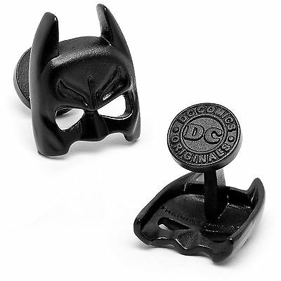 Officially Licensed DC Comics Satin Black Batman Dark Knight Mask Cufflinks