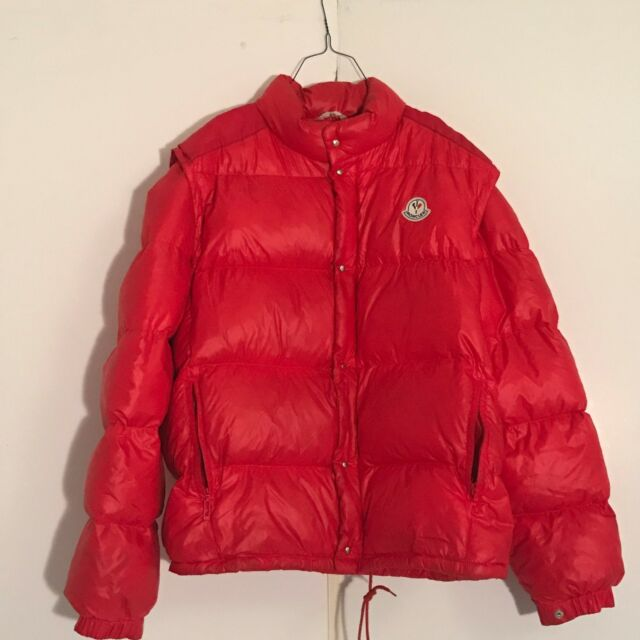 Moncler Grenoble, Red, Mens L, Vintage, Down puffer, Jacket, Great
