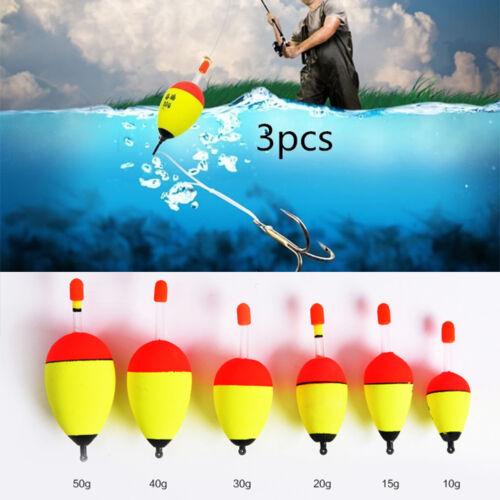 HK GC 3Pcs Luminous Buoy EVA Fishing Float Glowing LED Floats Fishing Bobber E