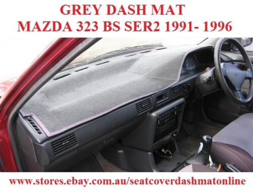 DASH MAT, DASHMAT, DASHBOARD COVER FIT MAZDA 323 BG SERIES 2 19891996, GREY