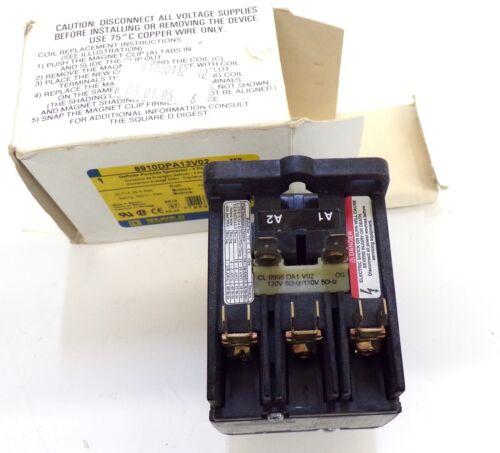 SQUARE D 8910DPA13V02 20 AMP DEFINITE PURPOSE CONTACTOR 3 PHASE 3 POLE