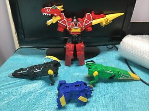 Power Rangers Dino Charge LOT!! Megazord, Raptor Zord, Para Zord all incomplete