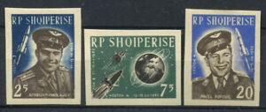 Albanien-1963-Mi-731-733-Postfrisch-100-geschnitten-Raum-Wostok-3