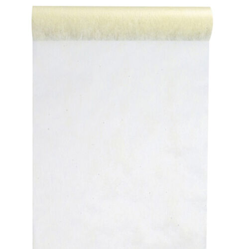Tischläufer Tischband Vlies 30cm x 10m ivory Dekostoff Banner Tischdecke