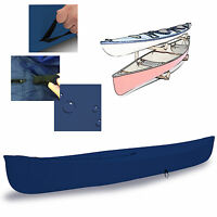 Eliteshield Canoe Kayak All Weather Boat Cover Fits Up To 16'l Navy