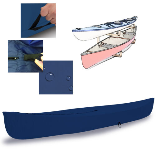 EliteShield Canoe Kayak All Weather Boat Cover fits up to 16/'L Navy