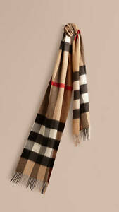 100-Authentic-Giant-Exploded-Check-Burberry-Scarf-Camel-Unisex