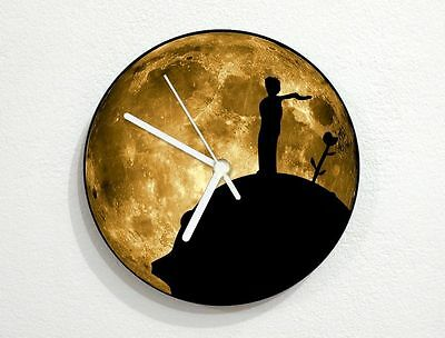 The Little Prince - Le Petit Prince - Satin Moon - Wall Clock