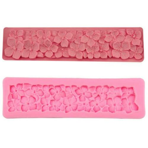 DIY Cake Mold Fondant Silicone Mould Baking Decor Buttons Flowers Sugar Craft LP