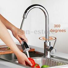Pull-Out Kitchen Sink Spray Swivel Spout 360° Mixer Tap Faucet Brushed Nickel US