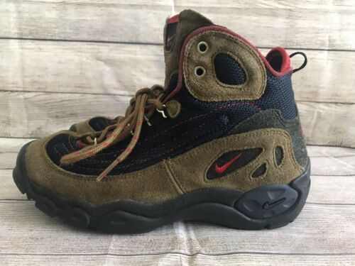 Nike ACG blue/brown vintage suede lace up hiking/t