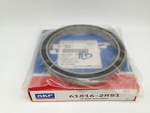 New-SKF-Radial-Deep-Groove-Ball-Bearing-80-mm-Bore-P-N-61816-2RS1