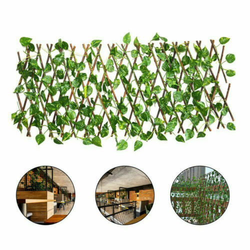 Artificial Faux Ivy Leaf Hedge Panels Privacy Fence Screening Garden Plants Wall