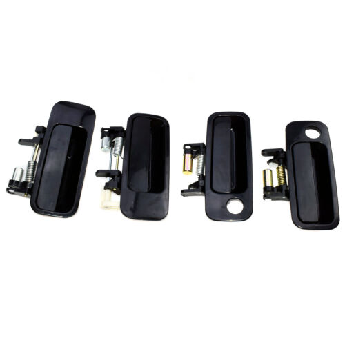 New 4Pcs Black Outside Exterior Door Handle set Fit For Toyota Camry 1997-2001