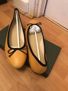 Hobbs Flo Ballerina Marigold Navy Flat