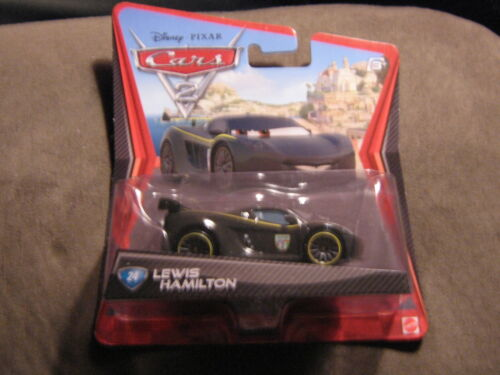 DISNEY PIXAR CARS 2 LEWIS HAMILTON LONG CARD