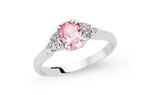 ROSA-Solitario-Anello-Di-Fidanzamento-Argento-Sterling-placcato-platino