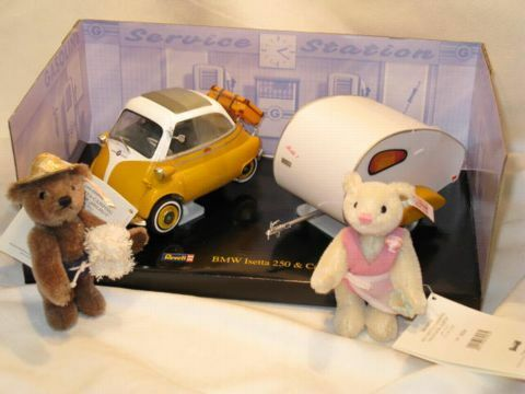 2008 Steiff BMW Isetta & Camper Bear Set From Germany Only 1000 Items